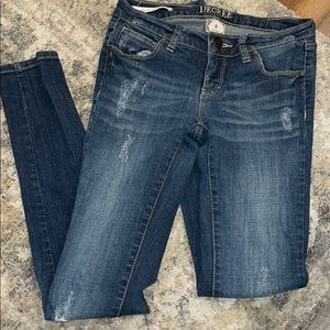Decree Super Skinny Distressed Jeans
